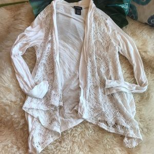 ⭐️5/$25⭐️Lace front open Cardigan
